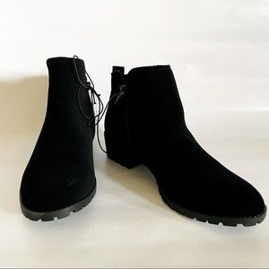 Black ankle suade boots size 9 1/2